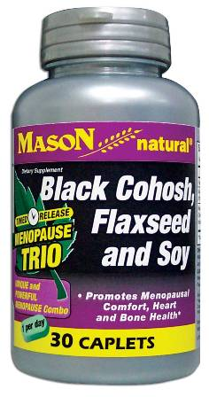 Image 0 of Menopause Trio Timed Release With Black Cohosh Flaxseed & Soy Caplets 30