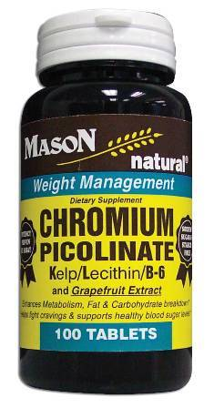 Image 0 of Chromium Picolinate + Kelp/Lecithin/B-6 And Grape Fruit Extract Tablets 100