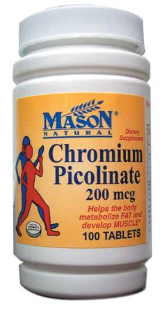 Image 0 of Chromium Picolinate 200 Mcg Dietary Supplement Tablets 100