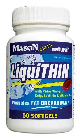 Image 0 of Liquithin Promotes Fat Breakdown Softgels 50(Discontinue)