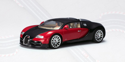 AUTOArt Bugatti EB 16.4 Veyron 1:32 Slot Car - Black/Red 13291