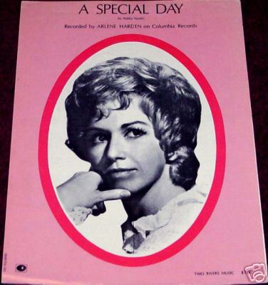 Arlene Harden Sheet Music A Special Day 1972 Excellent