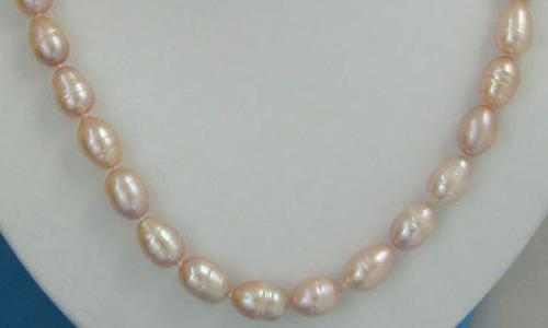 Pink Freshwater Large Baroque Pearl Necklace