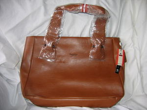 Noble Duck Shoulder Laptop Bag Tan Leather New