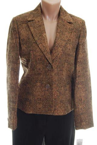 Rafaella Blazer 6P Jacket Bronze NWT new :  formal woman petite petite women classy