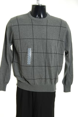 Spring Mercer Mens Sweater Top Light Gray L NWT :  new classic treasures grey sweater