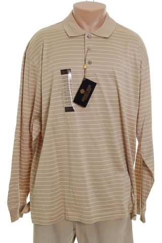 Donald Trump Mens Tan Shirt Top XL NWT new :  polo mensa apparel clothes men classic treasures
