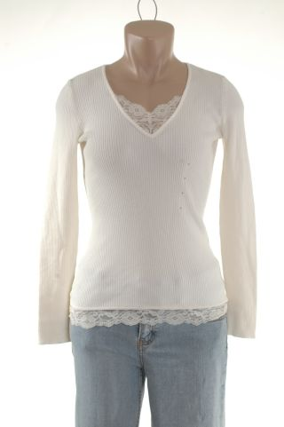 Liz Claiborne Ivory Shirt Top L Petite NWT new :  new off-white apparel ivory