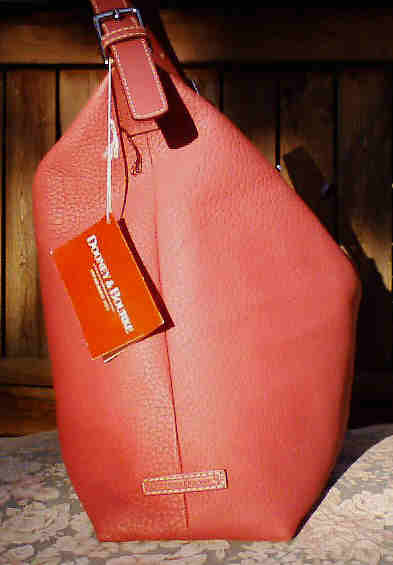 Dooney & Bourke Huge Pink Leather Bag Purse Sac NWT Registration Card