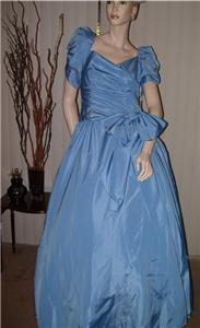 Light Blue Prom Dress Evening Gown Never Worn Vintage New :  blue dress entree ball classictreasures