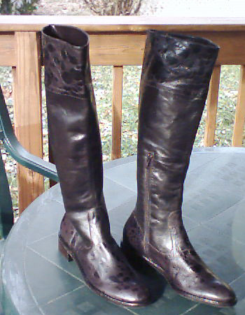 Antonio Melanie Brown Riding Boots Fine Leather 6.5 M Zipper NWOT :  woman boots size 6 brown
