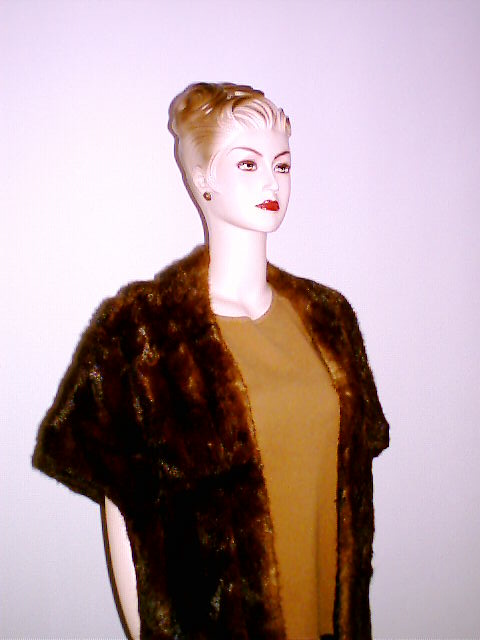 Mink Cape Vintage Mahogany Shiny Fur Stole 5th Avenue :  stole classic treasures cape vintage