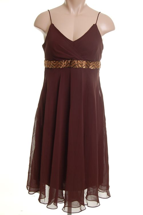 Bronze Brown Evening Dress New Women Dresses Size 8 Misses