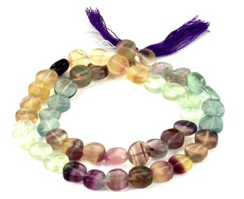 Fluorite Gemstone Beads 6 mm 15 Inches Strand Candy Color