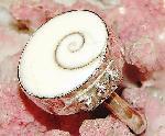 Shiva Shell Ring 6.5 Sterling Silver 925 gemstone jewelry