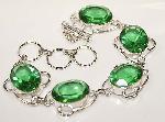 Green Peridot Gemstone Bracelet Sterling Silver