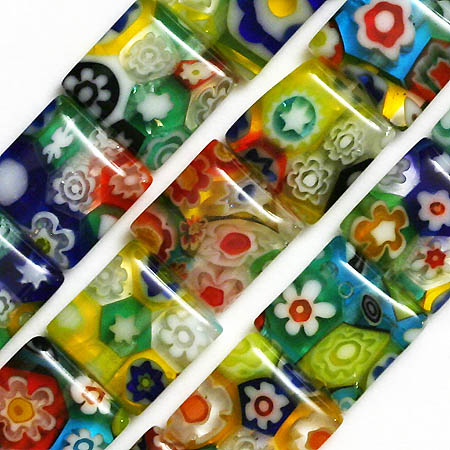 Millefiori Lampwork Beads Glass Square 10MM