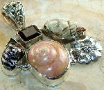 Atlantic Ocean shells 925 sterling silver pendant jewelry