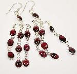 Tourmaline gemstone earrings sterling silver dangle