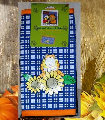 Garfield Odie Kids Pouch Apron Bib Pockets Kitchen :  garden baking child cook