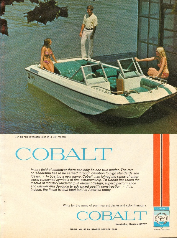 1972 Cobalt 16 Tri Hull Boat Ad