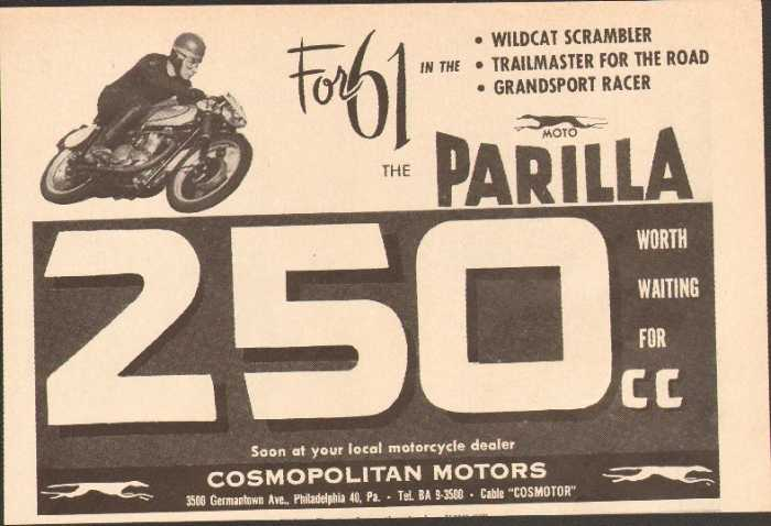 Prestomart 1961 Cosmopolitan Motors Parilla 250cc