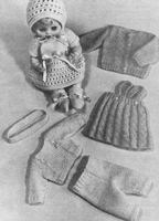 13 18   Doll Clothes Outfit Vintage KNITTING PATTERN