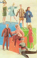 Vintage BARBIE & KEN DOLL STYLE CLOTHES Knitting Pattern