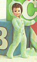 13 18   DOLL CLOTHES Knitted Outfit KNITTING PATTERN