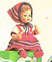 13 18   DOLL CLOTHES Hansel & Gretel KNITTING PATTERN
