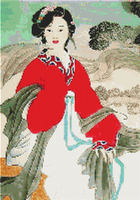 Oriental Lady Geisha Girl CROSS STITCH PATTERN CHART