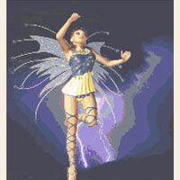 Storm Fairy Dancing Lightning CROSS STITCH PATTERN