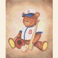 Boston Red Sox Teddy Bear CROSS STITCH PATTERN