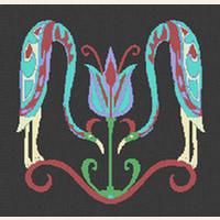 CELTIC Birds With Flower CROSS STITCH PATTERN CHART