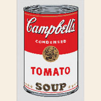 Campbell s Tomato Soup CROSS STITCH PATTERN Pop Art