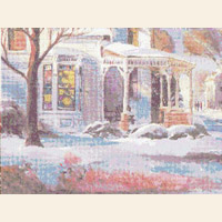 Home for the Holidays Christmas CROSS STITCH PATTERN