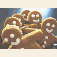 GINGERBREAD MEN   Christmas CROSS STITCH PATTERN CHART