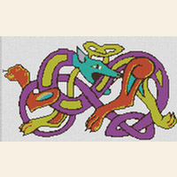 Celtic Dragon Dog CROSS STITCH PATTERN CHART