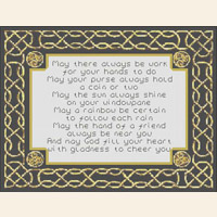 Celtic Irish Prayer Motto   CROSS STITCH PATTERN CHART