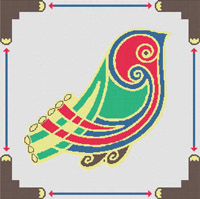 Celtic Bird   CROSS STITCH PATTERN CHART