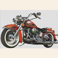Vintage Harley Davidson Motorcycle CROSS STITCH PATTERN CHART
