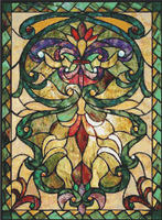 CROSS STITCH PATTERN CHART   Victorian STAINED GLASS