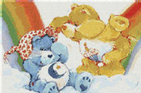 Care Bears Rainbow CROSS STITCH PATTERN CHART Free Ship