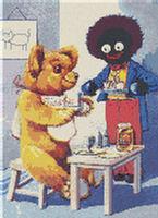 Golliwog & Teddy Bear Tea CROSS STITCH PATTERN CHART