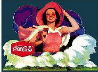 Vintage COCA COLA Ad   CROSS STITCH PATTERN CHART