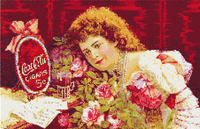 Victorian Coca Cola Ad Coke CROSS STITCH PATTERN CHART