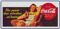 COCA COLA Vintage Ad Housewife CROSS STITCH PATTERN