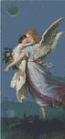 Dream Time Angel With Child Cross Stitch Pattern Chart
