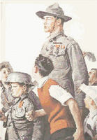 Norman Rockwell   Hero s Return Cross Stitch Pattern