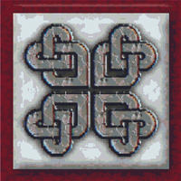 CELTIC Love Knot in Stone CROSS STITCH PATTERN CHART